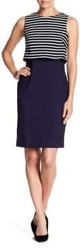 Eliza J Sleeveless Popover Sheath Dress