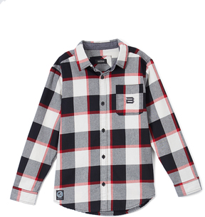 Buffalo David Bitton Cannon & Charcoal Plaid Button-Up - Boys