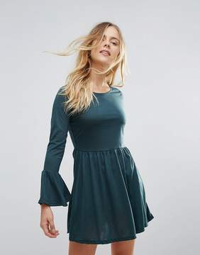 Brave Soul Flare Sleeve Jersey Dress