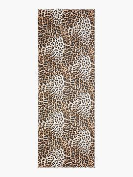 Talbots Fringed Animal-Print Scarf