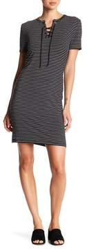 Cupcakes And Cashmere Destiny Lace-Up Striped Dress