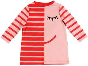 Stella McCartney Face & Stripes Cotton Interlock Dress