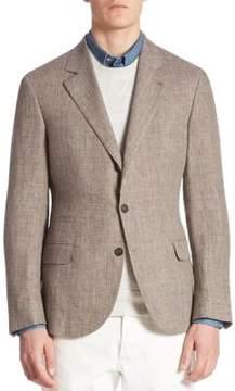 Brunello Cucinelli Prince of Wales Sport Linen Jacket