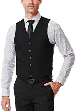 Haggar Men's Slim-Fit Black Suit Vest