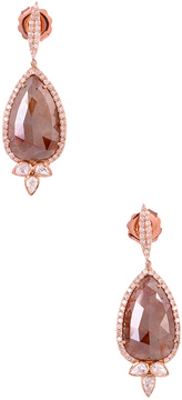 Artisan Women's Pear Drop Shape Ice Diamond Earrings