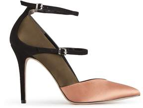 Reiss Athena Satin Ankle-Strap Shoes