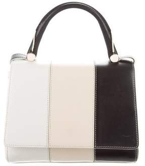 Max Mara Tricolor Leather Satchel