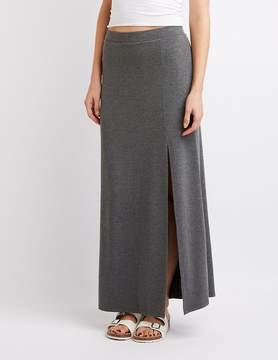 Charlotte Russe Side Slit Maxi Skirt