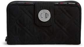 Vera Bradley RFID Turnlock Quilted Wallet - CLASSIC BLACK - STYLE