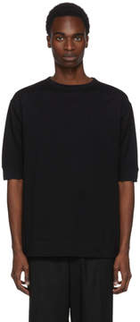 Robert Geller Black Mesh Rib T-Shirt