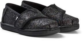 Toms Black Glitter Alpargarta Espadrilles