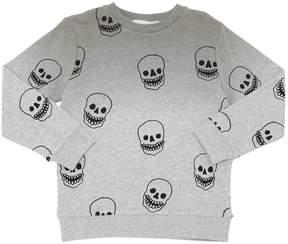 Stella McCartney Skulls Print Gradient Cotton Sweatshirt