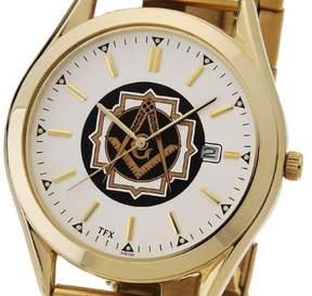 Bulova Men's Gold Plated TFX by Masonic Blue Lodge Watch