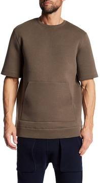 Helmut Lang Oversized Short Sleeve Sweatshirt