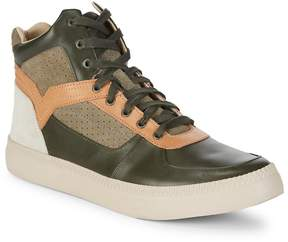 Diesel Men's Classic Leather High Top Sneakers