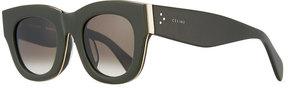 Celine Opaque Round Plastic Sunglasses