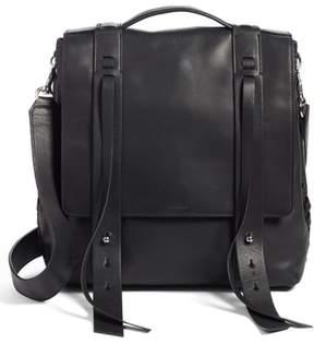 Allsaints Fin Leather Backpack - Black