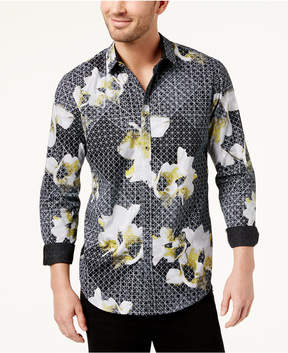 INC International Concepts I.n.c. Men's Geometric Floral-Print Shirt, Created for Macy's