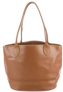 Longchamp Smooth Leather Tote - BROWN - STYLE