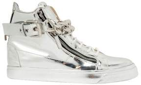 Giuseppe Zanotti Design Metal Chain Leather High Top Sneakers