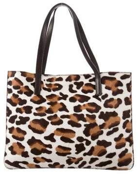 Alaia Animal Print Pony Hair Bag