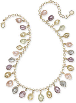 Charter Club Gold-Tone Shaky Imitation Pearl Collar Necklace, 17 + 2 extender, Created for Macy's