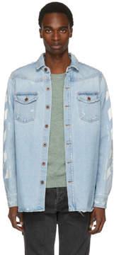 Off-White Blue Temperature Denim Shirt