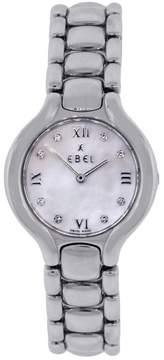 Ebel Beluga Stainless Steel Mother of Pearl Diamond Dial 26mm Womens Watch