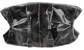 Costume National Coated Ruched Clutch