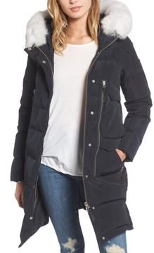 Derek Lam 10 Crosby Women's Genuine Fox Fur Trim Down Coat