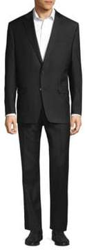 Lauren Ralph Lauren Twill Solid Two-Piece Wool Suit