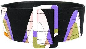 Emilio Pucci patterned waist belt