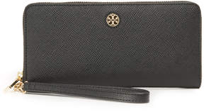 Tory Burch Perry Zip Passport Continental Wallet - BLACK - STYLE
