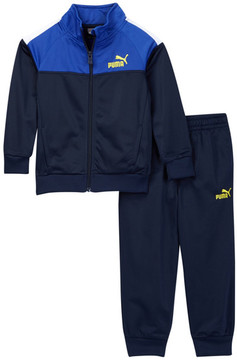 PUMA Tricot Jacket & Pants Track Set (Little Boys)