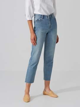 Frank and Oak The Patti Straight-Leg Jean in Medium Indigo