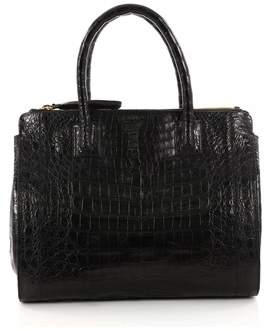 Nancy Gonzalez Pre-owned: Double Zip Convertible Tote Crocodile Large.