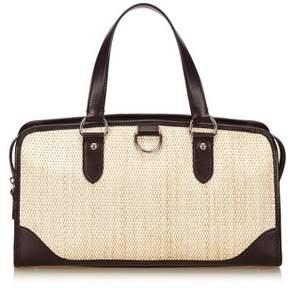 Burberry Pre-owned: Straw Handbag. - BROWN X BLACK - STYLE