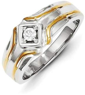Ice 14k Two-tone Diamond Men's Ring