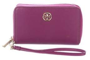 Tory Burch Leather Robinson Zip-Around Wallet