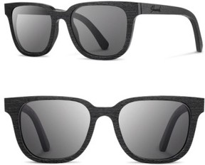 Shwood Women's 'Prescott' 52Mm Wood Sunglasses - Black/ Grey