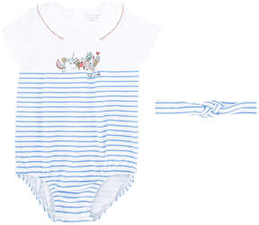 Little Marc Jacobs striped printed romper