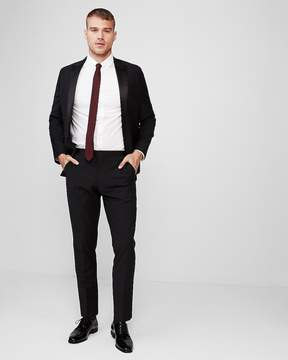 Express Slim Black Performance Stretch Wool Blend Tuxedo Pant