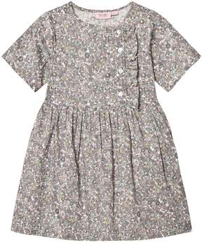 Mini A Ture Noa Noa Miniature Grey Multicoloured Floral Print Knee Length Dress
