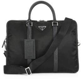 Prada Leather Trimmed Briefcase