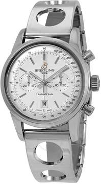 Breitling Transocean Chronograph Automatic Silver Dial Men's Watch A4131012/G757SS