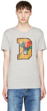 Diesel Grey T-Diego-QQ T-Shirt