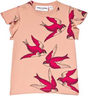 Mini Rodini Pink Swallows Wing T-Shirt