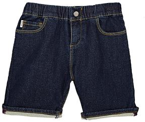 Paul Smith STRETCH COTTON-BLEND FRENCH TERRY-BACKED DENIM SHORTS