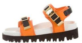 Buscemi Leather-Trimmed Sandalo Sandals