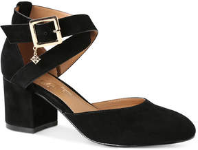 Nanette Lepore Nanette by Demi Two-Piece Block-Heel Pumps Women's Shoes